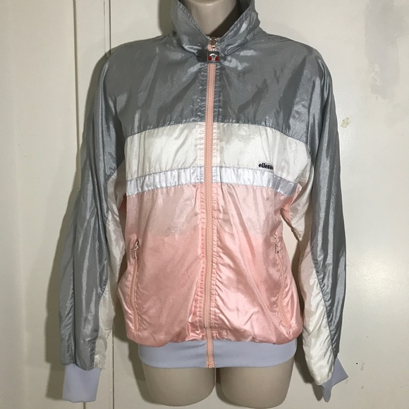 Vintage 80's Windbreaker Track Jacket Pastel CUTE!